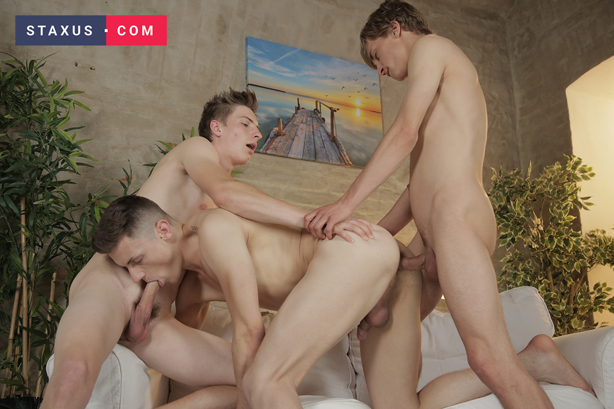 Coming Soon On Staxus: Ron And Carl Make Liam's Biggest Dream Cum True!