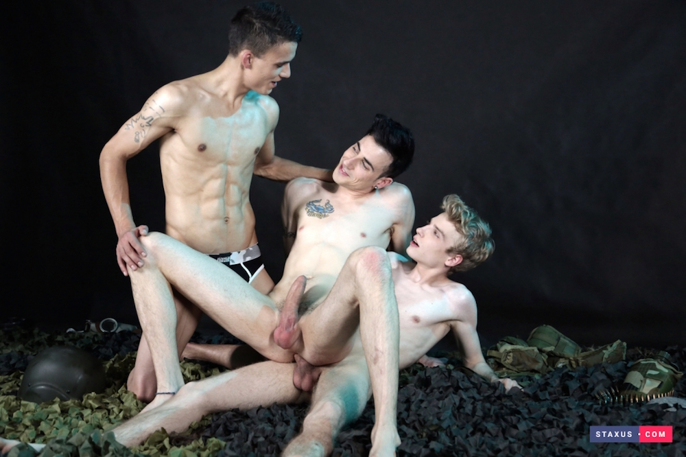 New Scene on Staxus: Kinky Threesome Gets This Perverse Bunch Of Twinks Shamelessly Fucking & Creaming! HD